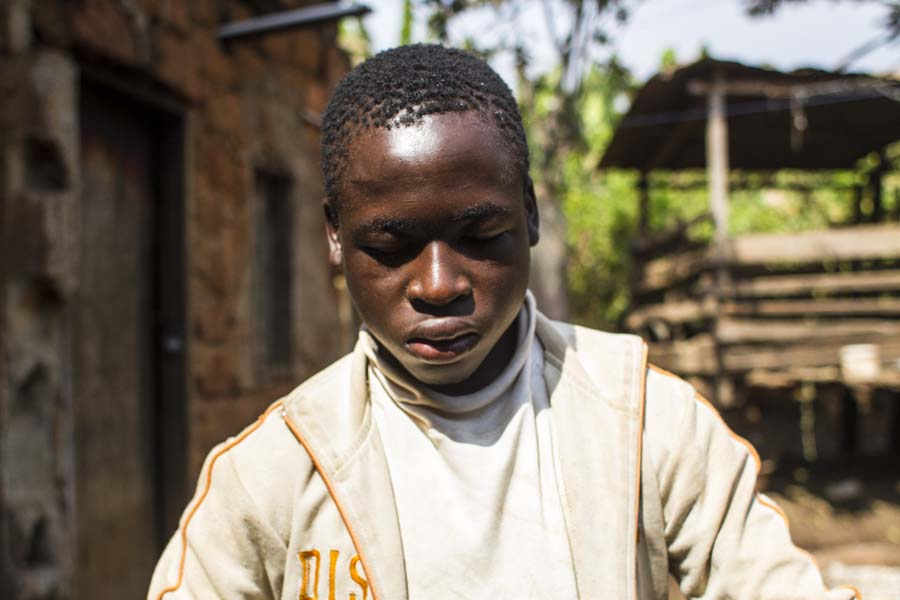 This 17 year-old boy became deaf and blind when he was a very little child from unknown reasons.  The mother said that he had discharges coming out of his eyes just before he became deaf and blind.  He has never once attended school.  He has zero language.  He knows only a few tactile signs created by his mother.  He stays home all day even though the mother said her biggest frustration is helping him use his energy and keep him moving.  She also said that she struggles to help him manage his anger.